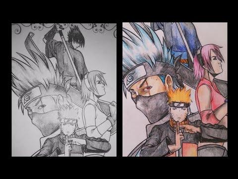Mewarnai Gambar Tim 7 Naruto Youtube