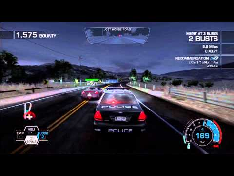 Need for Speed Hot Pursuit 2010.. First Police chase,,