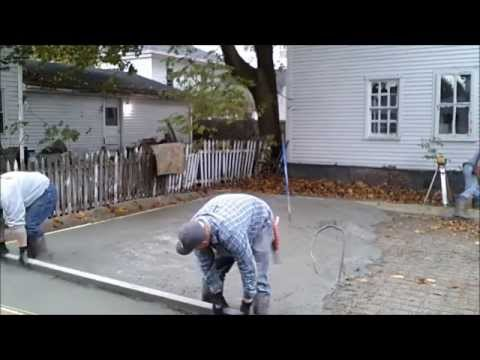How to pour a concrete slab youtube for How to pour a concrete slab for a garage
