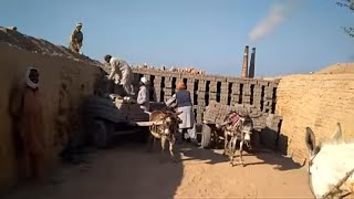 Primitive Technology Clay !Fired Clay Bricks ! Bricks Kiln Industry Tour 2! How To Fire Clay Bricks
