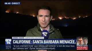 Incendies en Californie: la ville de Santa Barbara à son tour menacée