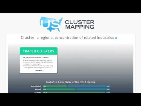 The U.S. Cluster Mapping Tool uses more than 50 million data ...