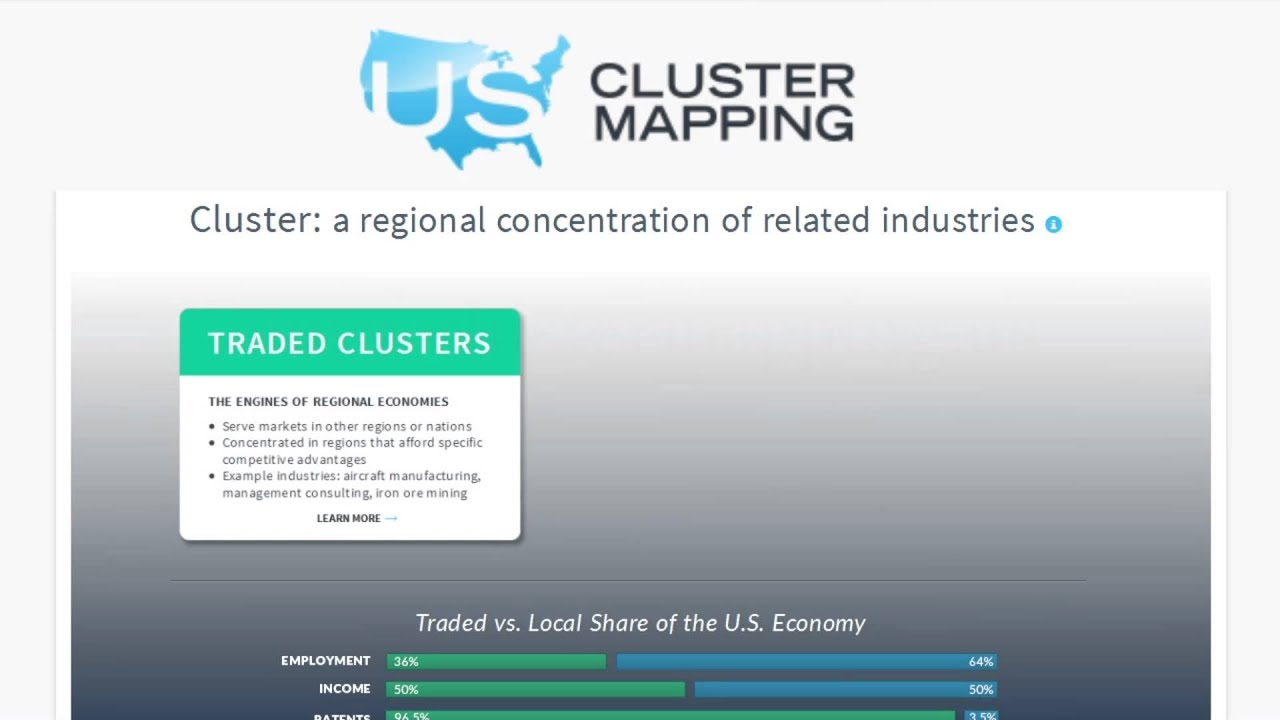 The Innovative And Useful US Cluster Mapping Tool YouTube - Us cluster mapping
