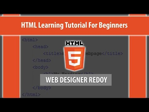 HTML Learning Tutorial For Beginners | How to Write HTML thumbnail