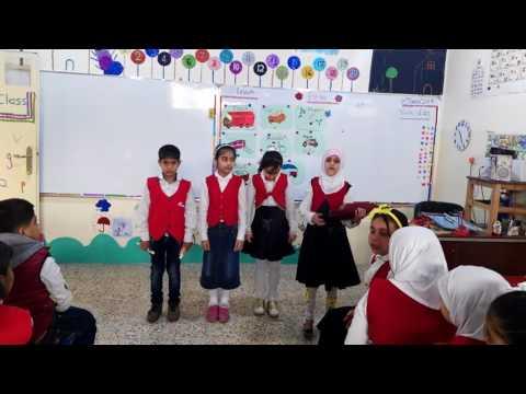 درس اللغة الانكليزية«this is away»لتلاميذ صف الثالث ب مدرسة خولة بنت الحسين عليهما السلام