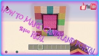 HOW TO MAKE A CANDY PORTAL IN MINECRAFT (No Mods)