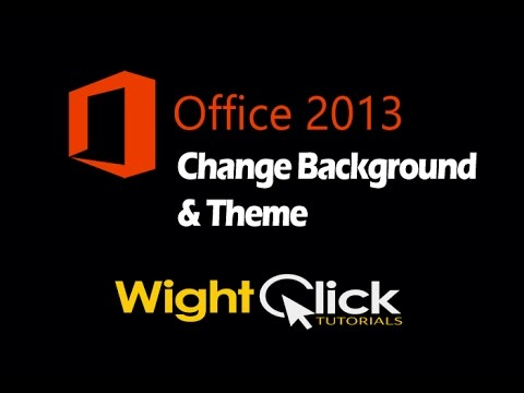 Change Office 2013 Theme & Background - YouTube