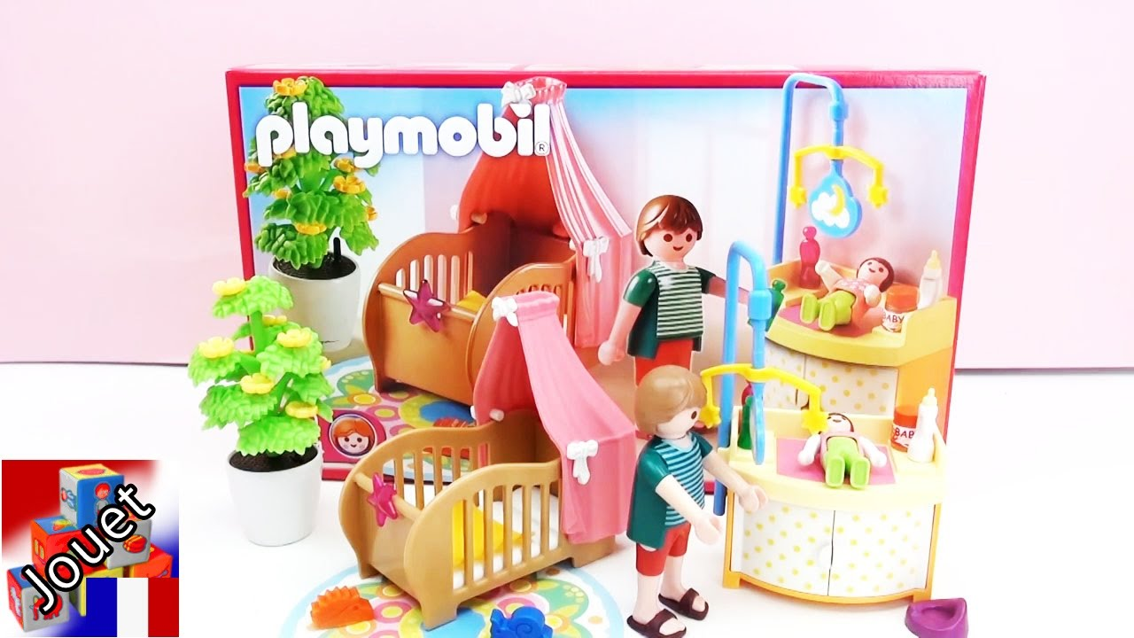 construction et d mo de la chambre enchant e du b b playmobil 5334 youtube. Black Bedroom Furniture Sets. Home Design Ideas