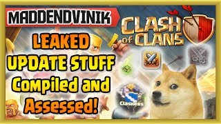 Clash of Clans - LEAKED UPDATE STUFF Compiled and Assessed! (New Clan Castle, Clan Wars)