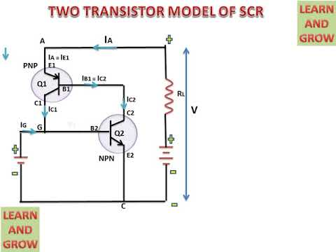 TWO TRANSISTOR MODEL OF SCR(हिन्दी ) !LEARN AND GROW