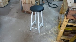 [scrapwood] How To Build Shop Bar Stool - Fabrication D'un Tabouret De Bar