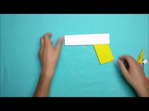 How to make a paper weapon that does not hurt without tape for kids-Cool paper gun
