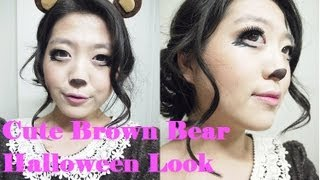The Beauty Owl: Cute Brown Bear Halloween Makeup Thumbnail