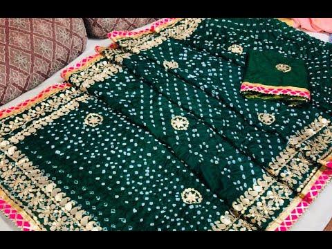 Elegant Art Silk Bandhani Sarees With Heavy Gota Patti U0026 Lace Work   New Saree Design (2020)