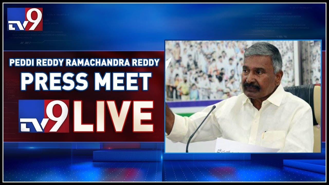 YCP MLA Peddireddy Ramachandra Reddy LIVE    Vijayawada -TV9