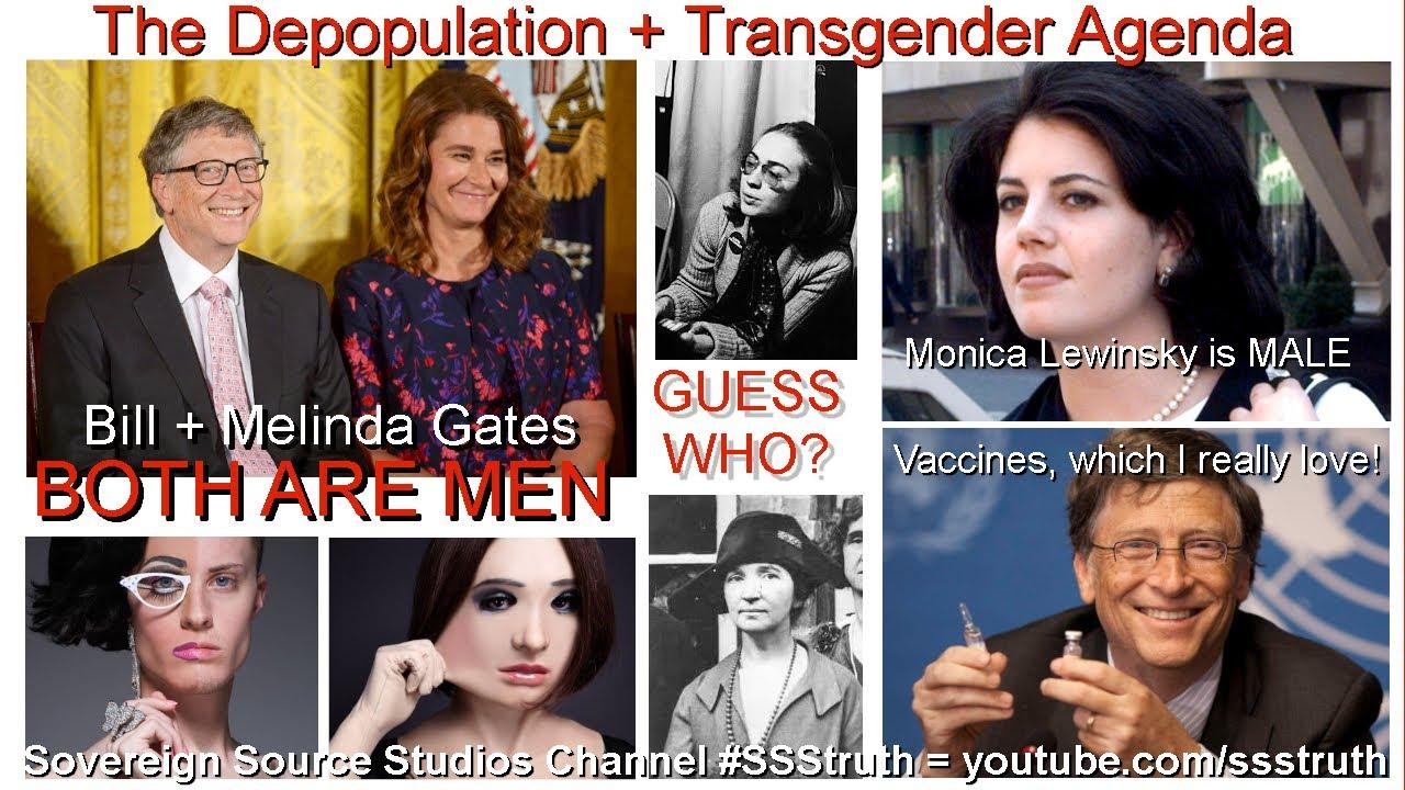 Depopulation + Transgender Agenda = Bill + Melinda Gates Hillary Clinton Transvestigation* #SSStruth