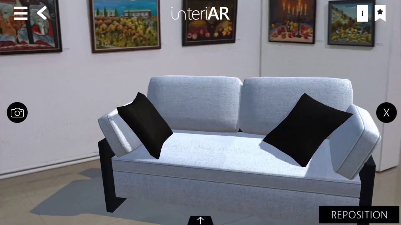 Interiar Augmented Reality Application For Interior Design And Purchases Youtube