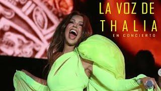Se conoce la voz real de Thalía en concierto