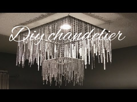 Chandelier made out of picture frames. DIY chandelier