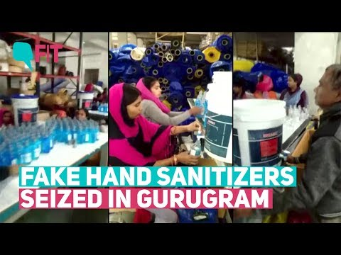 Amid Coronavirus Fears Fake Hand Sanitizer Manufacturing Company