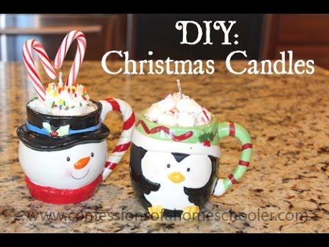 DIY Christmas Candles - YouTube