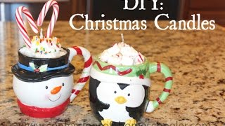 DIY Christmas Candles Thumbnail