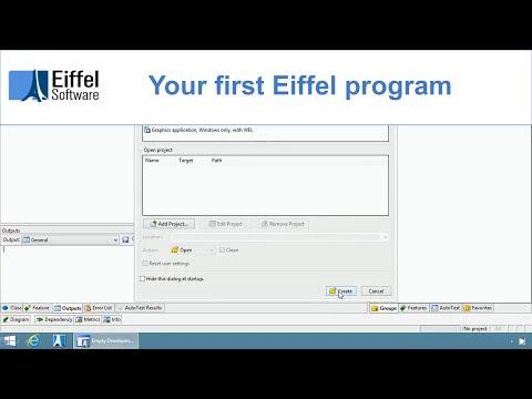 Creating your first Eiffel program