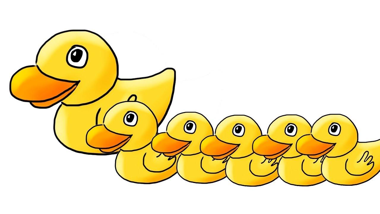 Five little ducks (5 little ducks) children's song - YouTube