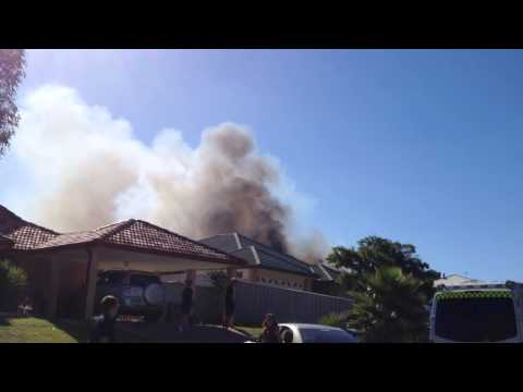 House fire in Clarkson Perth Western Australia March 25 2015 as seen on seven