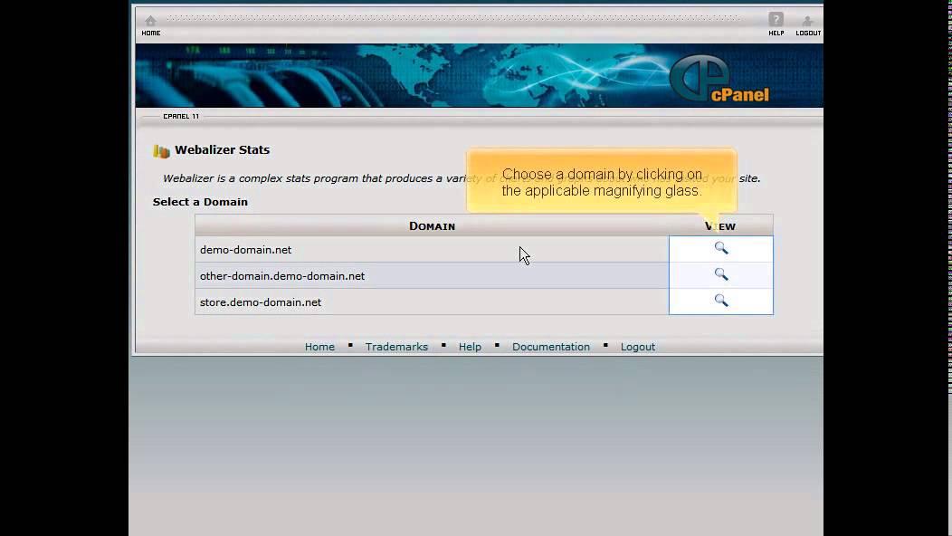 Accessing your website statistics via Webalizer