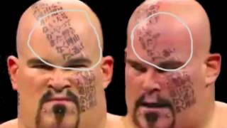 WWE Lord Tensai Face Tattoos Are Fake Proof