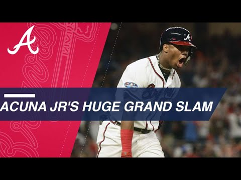Acuna youngest to hit a grand slam in the postseason