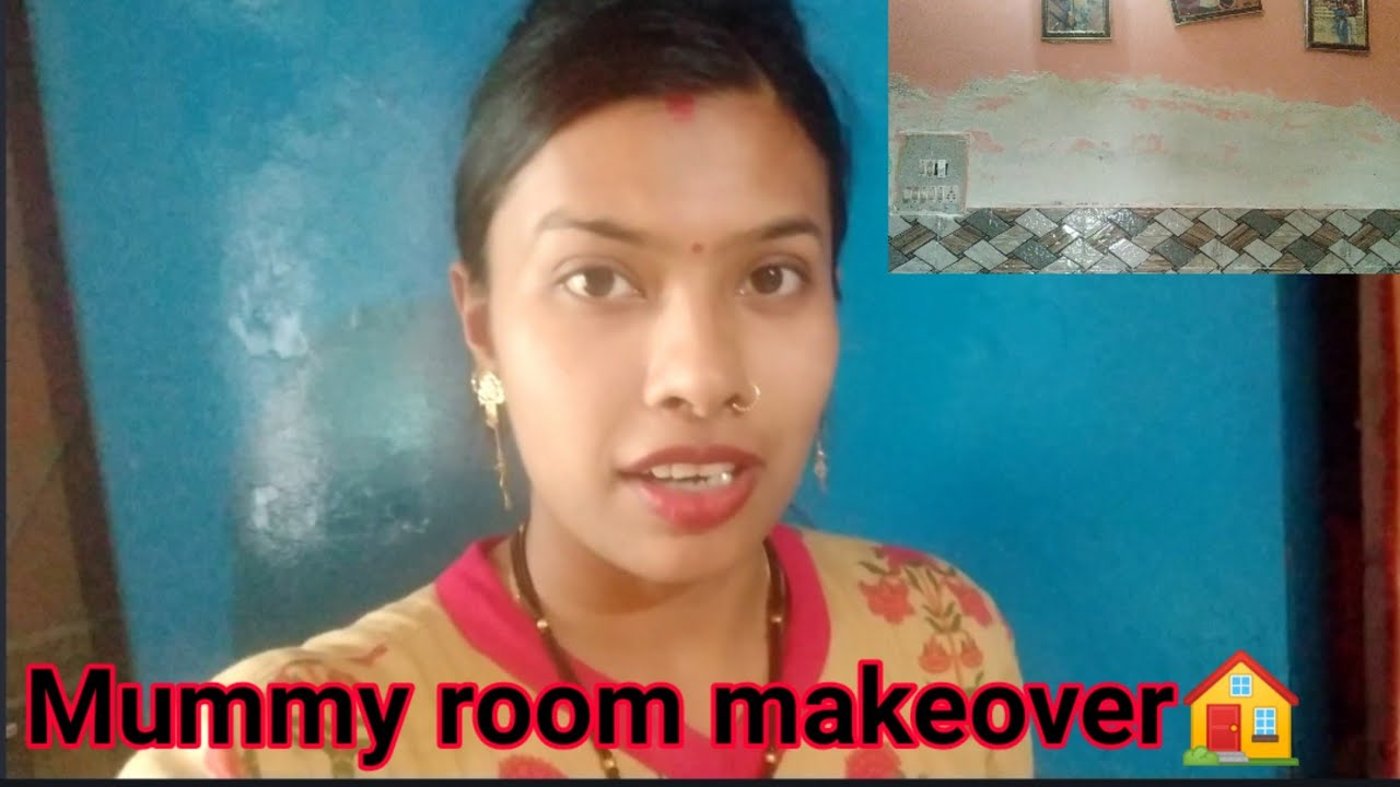 Mummy ke room ka makeover 🏡bina kharch 💰ke||पुरानी दीवार को कैसे नया किया😎||Dehradun vlogs
