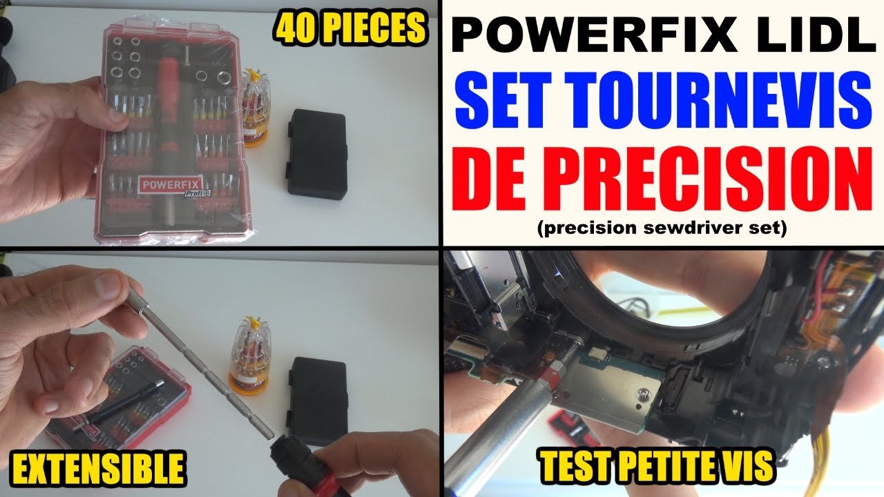tournevis de precision powerfix lidl screwdriver feinmechaniker