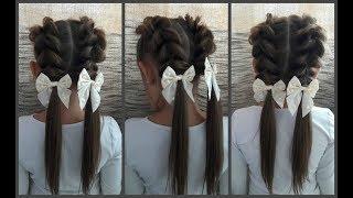 🎉Быстрая и Красивая прическа в школу🎉легко сделать самой себе.Hair to school.French slave back