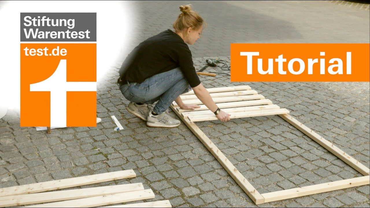 Tutorial Selbstbau Lattenrost Besser Als 1000 Euro Konkurrenz Test Lattenroste Stiftung Warentest Youtube