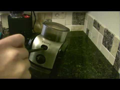 Krups GVX2 burr coffee grinder - work around for broken button