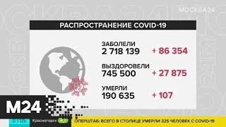 Число заболевших COVID-19 в мире превысило 2,7 миллиона - Москва 24