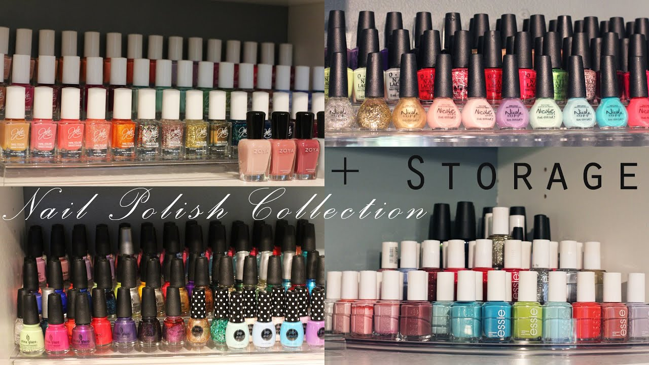My Nail Polish Collection + Storage | Essie, OPI, Zoya, China Glaze ...