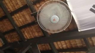 Hanabishi brand orbit hugger ceiling fan in a resort bar   hunter ceiling fan parts