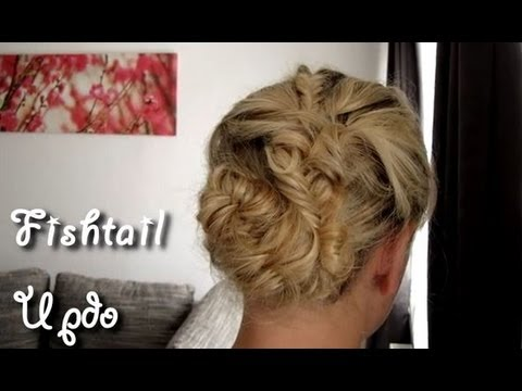 hair tutorial hochsteckfrisur f r schulterlanges haar geflochten fishtail updo youtube. Black Bedroom Furniture Sets. Home Design Ideas