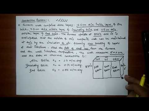 HEAT AND MASS TRANSFER: CONDUCTION PROBLEM-01
