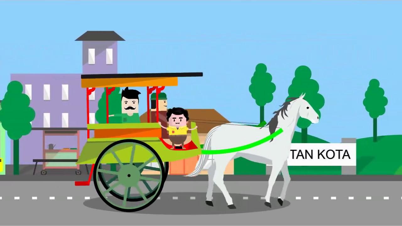 Top Gambar Kartun Naik Delman Background Wallpaper