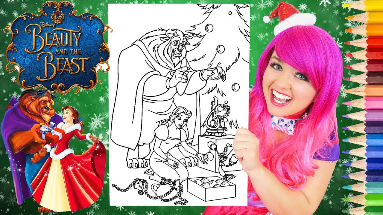 Coloring Belle Christmas Beauty And The Beast Coloring