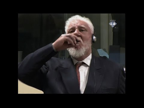 War Criminal Dies After Drinking Liquid in Court