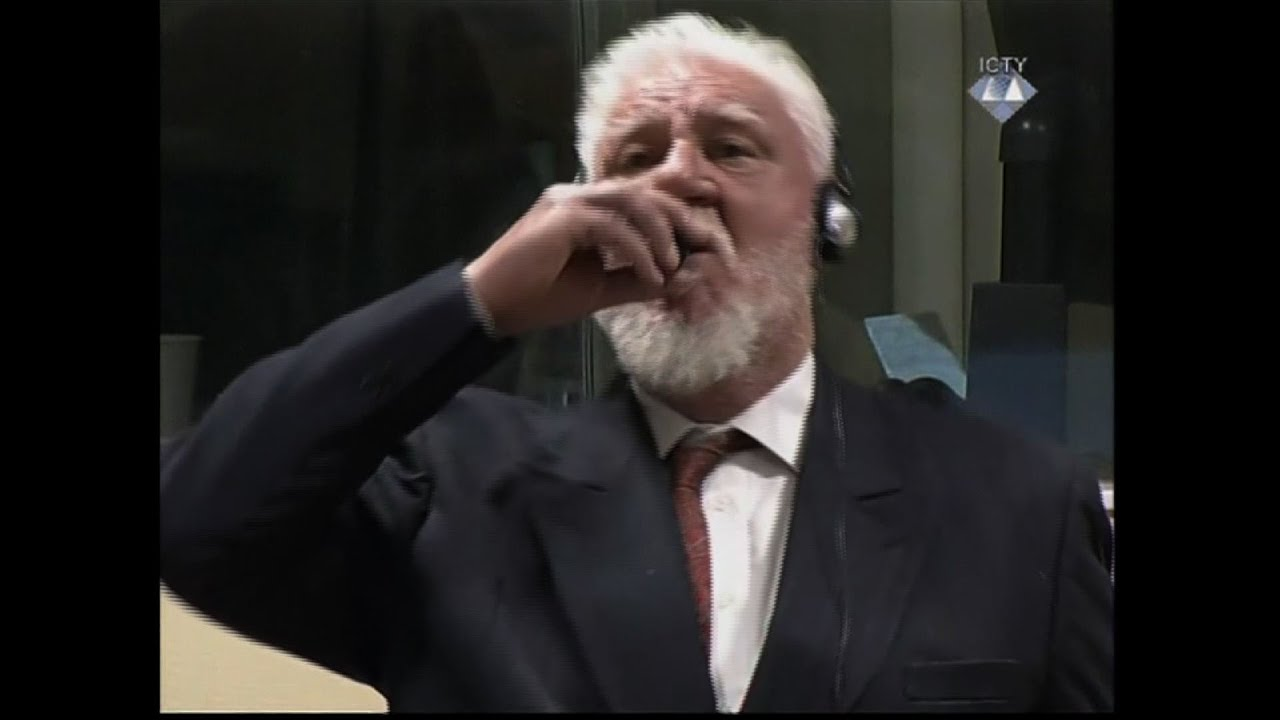 War After Swallowing Court >> War Criminal Dies After Drinking Liquid In Court Youtube