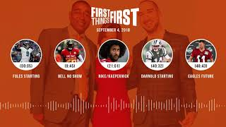 First Things First audio podcast(9.4.18) Cris Carter, Nick Wright, Jenna Wolfe | FIRST THINGS FIRST