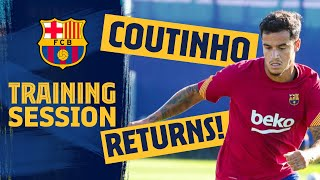 👋 COUTINHO IS BACK!! New season prep continues!! 🏋️
