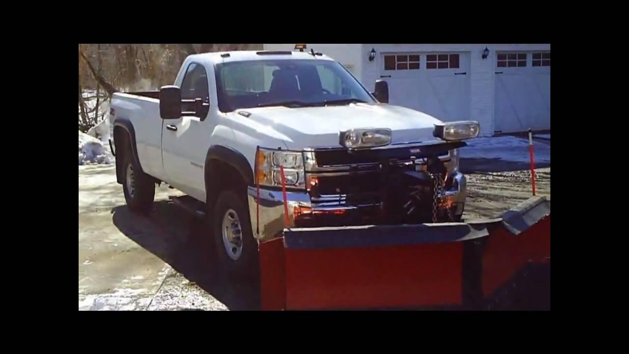 2009 Chevrolet 2500HD Plow Truck 4x4 V8 6.0L VIDEO! - YouTube