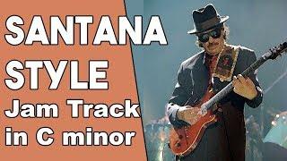 Carlos Santana Style Jam Track in Cm